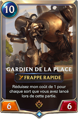 La carte Gardien de la Place dans LoR
