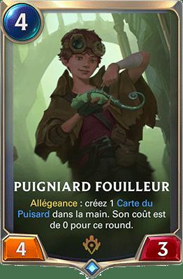 La carte Puigniard fouilleur dans LoR