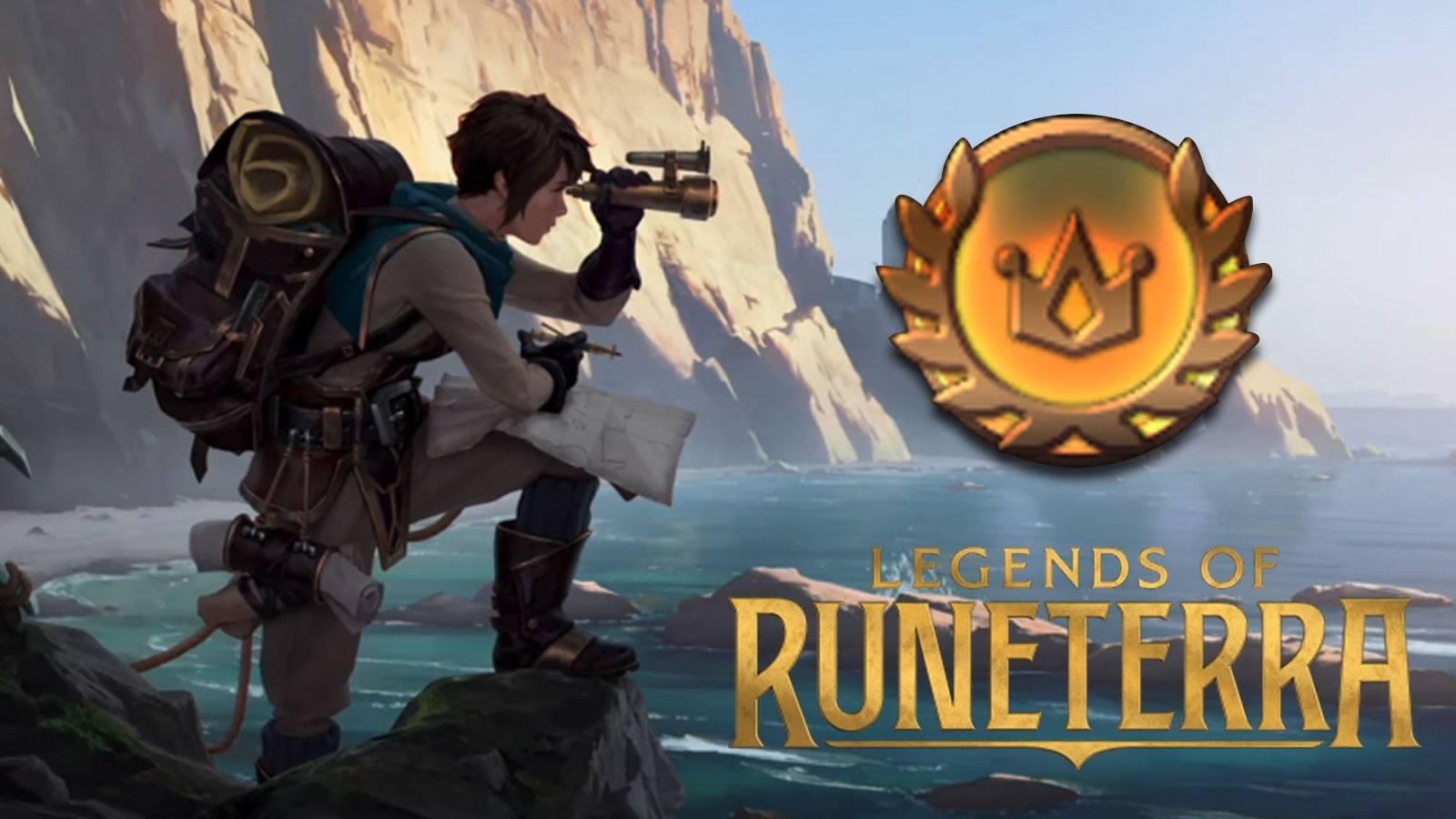 Mode Expéditions avec le jeton de victoire sur Legends of Runeterra