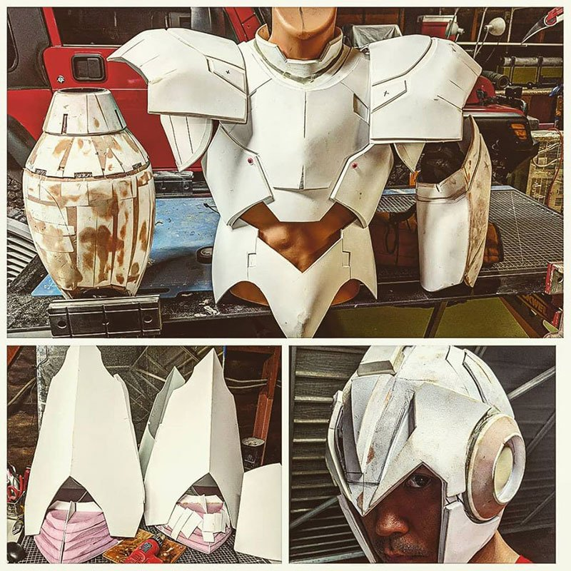 Progression du cosplay MegaMan de Kenson