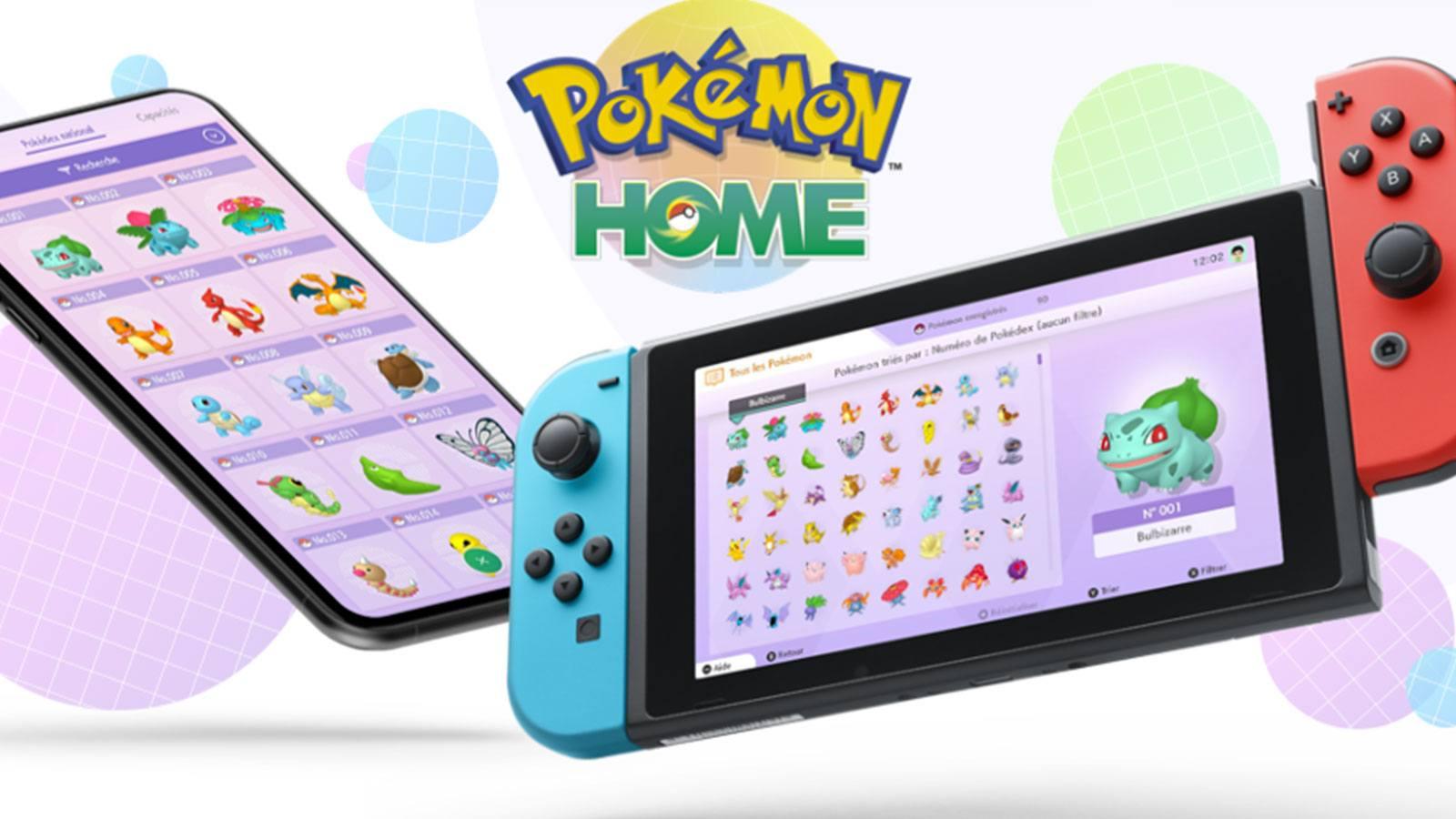 en-tête Pokémon HOME