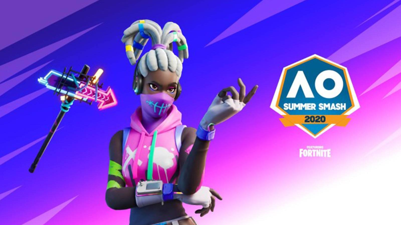 Skin Bombeuse et pioche sur Fortnite pour le Summer Smash 2020