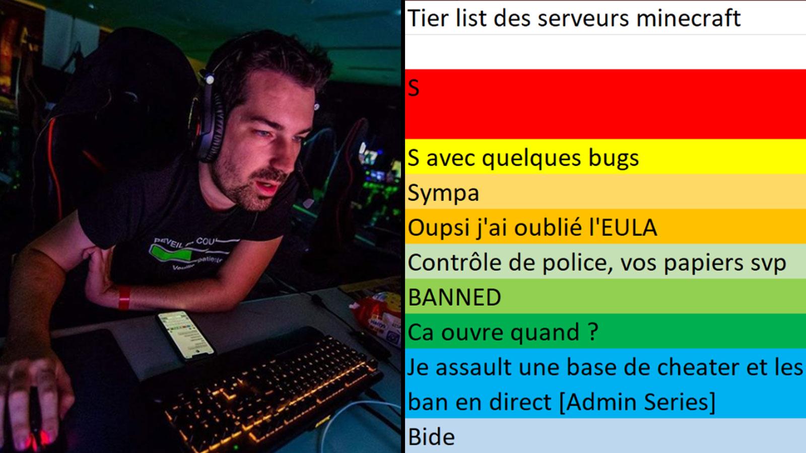 En live Aypierre s'est lancé dans l'élaboration de tier lists