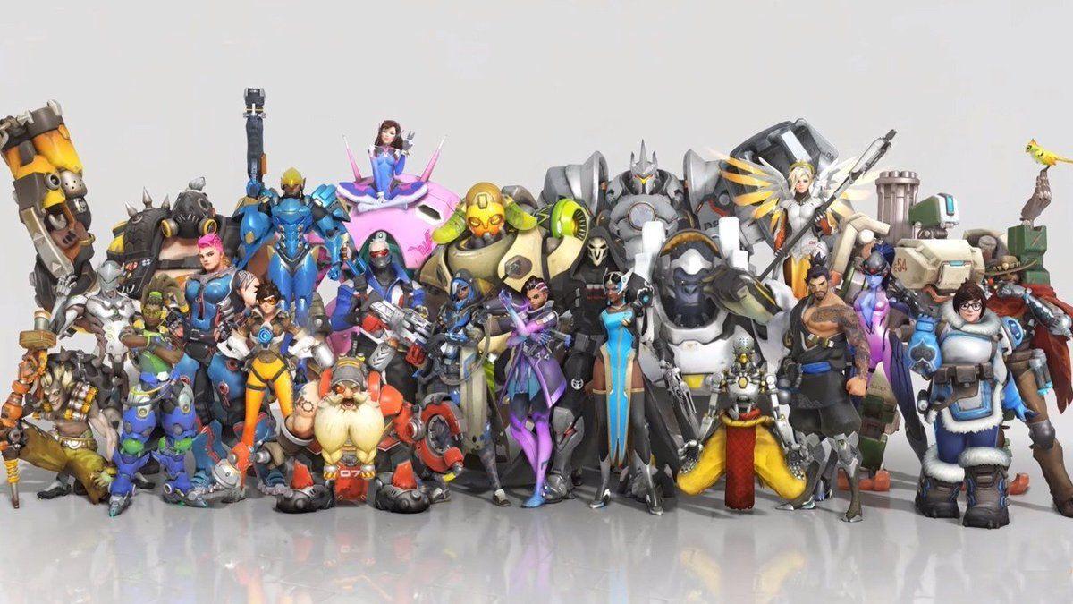 tous les héros Overwatch rotation Blizzard