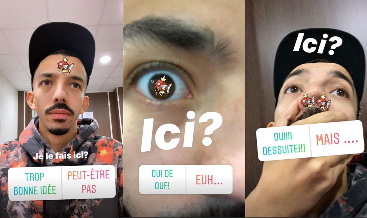 Sondages Instagram de Bigflo pour déterminer l'emplacement du tatouage