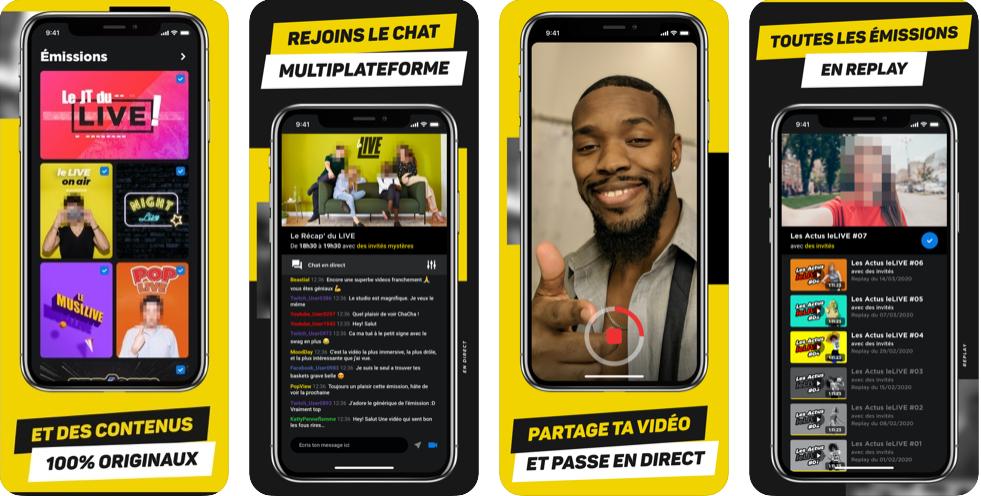 LeLive propose une application mobile autour des émissions