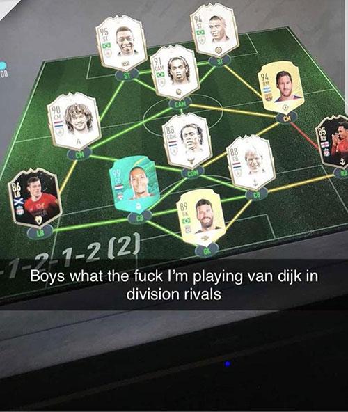 La composition de l'équipe FIFA20 de Van Dijk