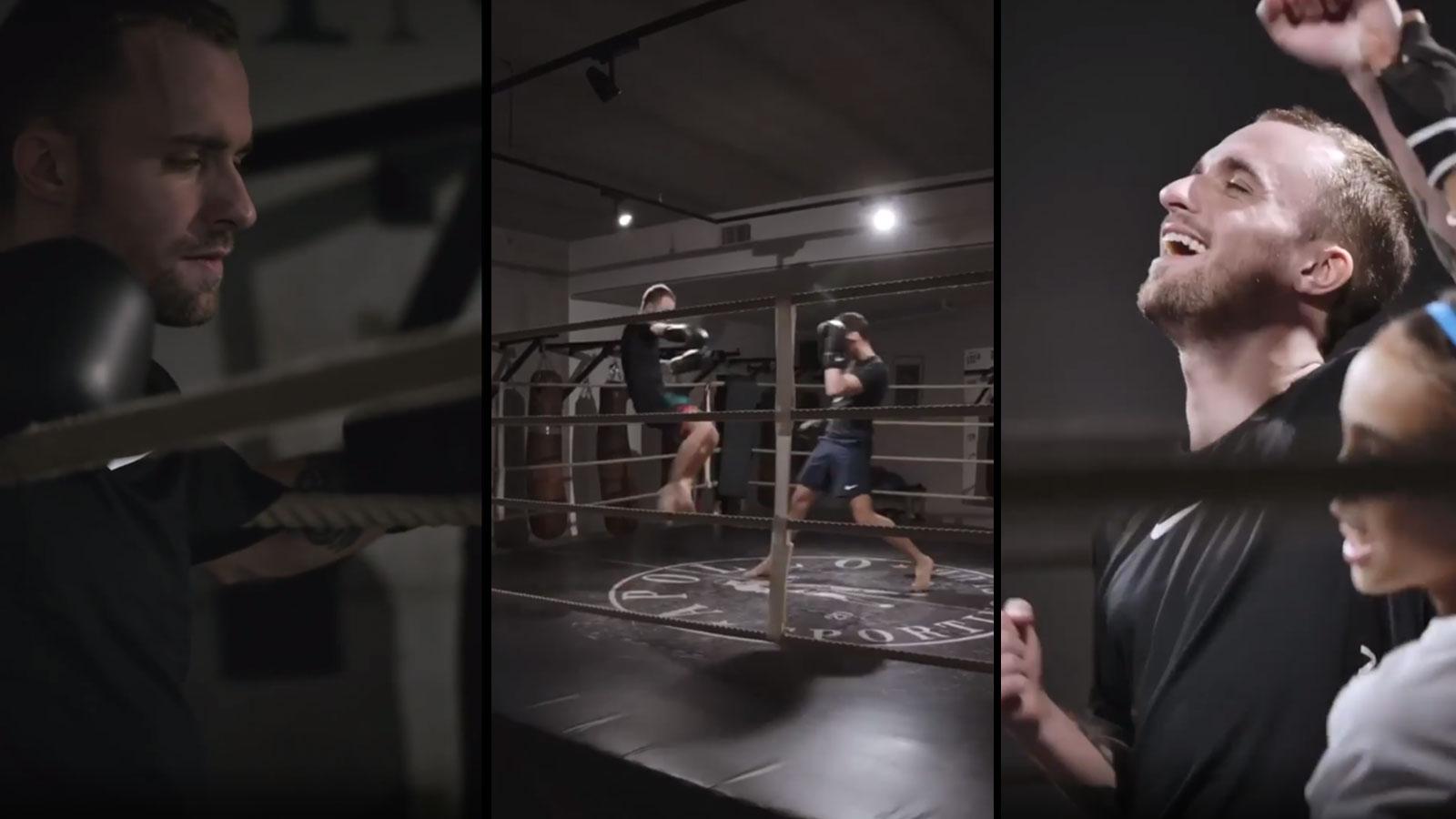 Squeezie a dû se liver à un combat final de kick-boxing