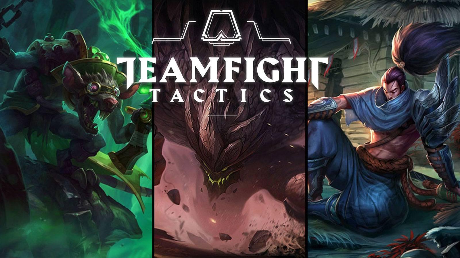 Twitch, Malphite et Yasuo dans Teamfight Tactics
