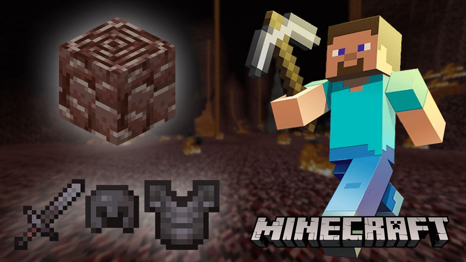 Personnage de Minecraft à la recherche de Netherite