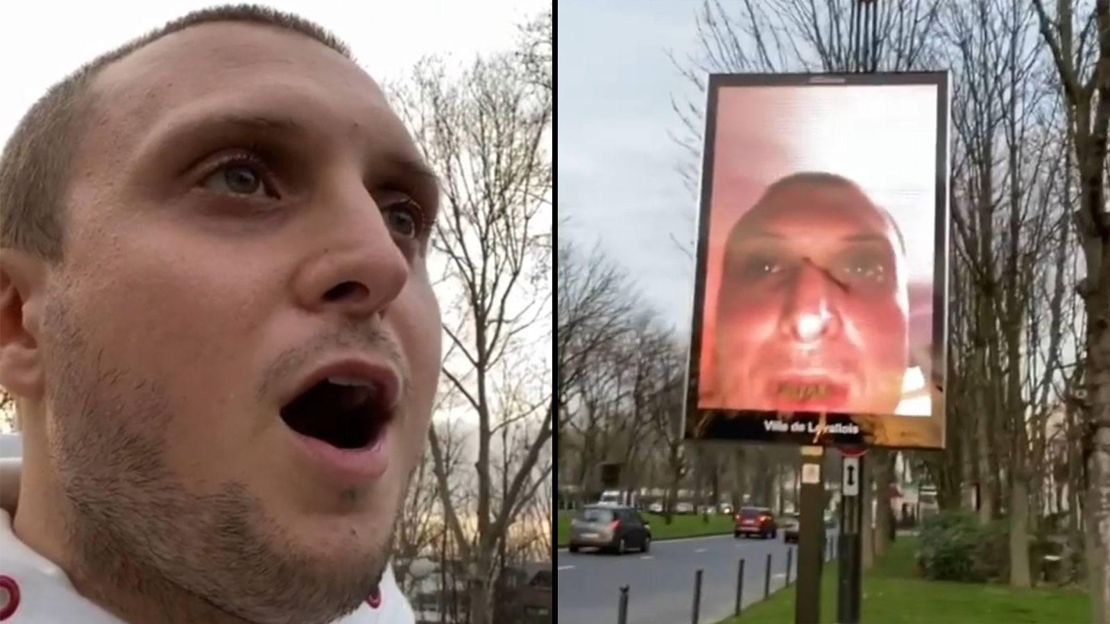 Mcfly découvre son visage sur un panneau publicitaire