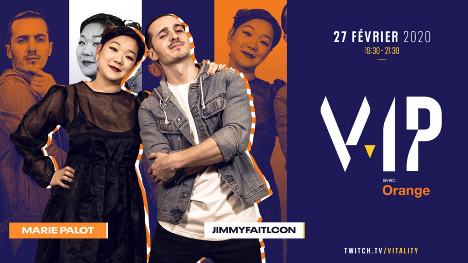 La Team Vitality donne rendez-vous à ses fans pour V.IP avec Marie Palot et Jimmyfaitlcon