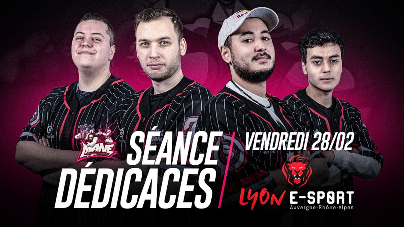 Les MANE se livreront à une séance de dédicaces lors de la Lyon e-Sport