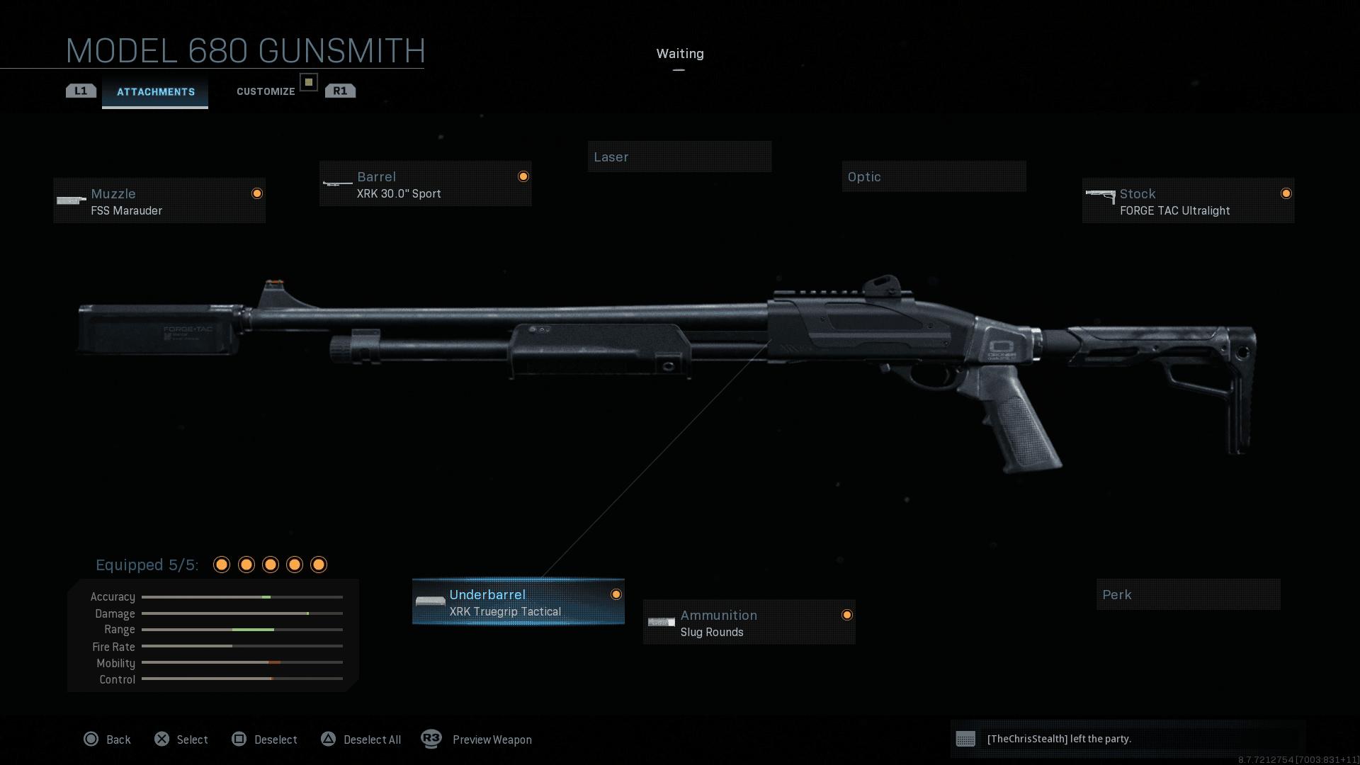 Glitch Modern warfare Infinity Ward tir infini Model 680