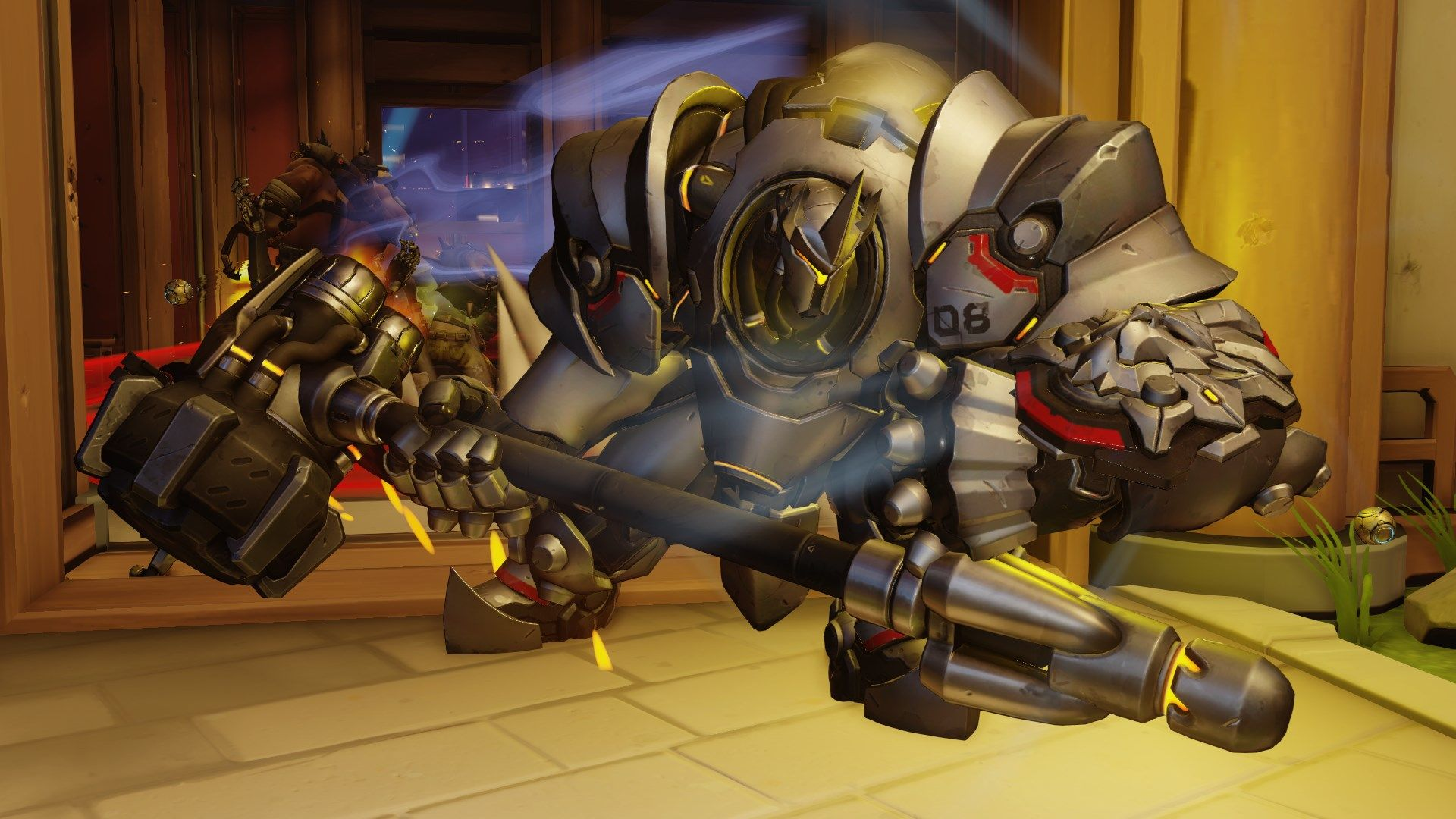 Reinhardt charge Overwatch Blizzard