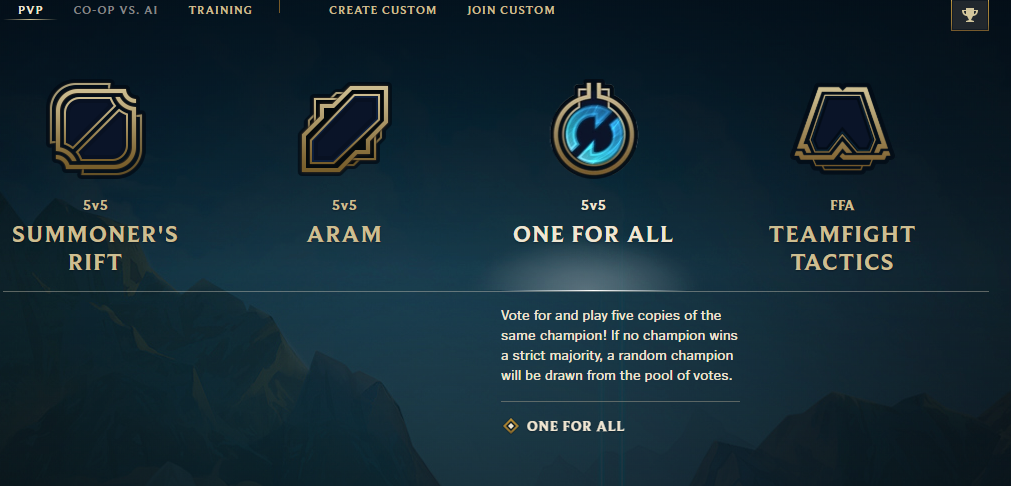 One for All LoL Riot Games patch 10.6