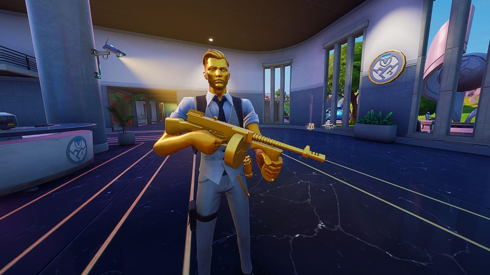 pistolet-mitrailleur tambour Midas Fortnite Epic Games