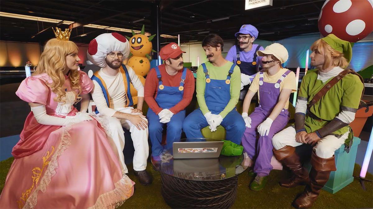 Capture d'écran de la vidéo Mario Carte Bleue All Star