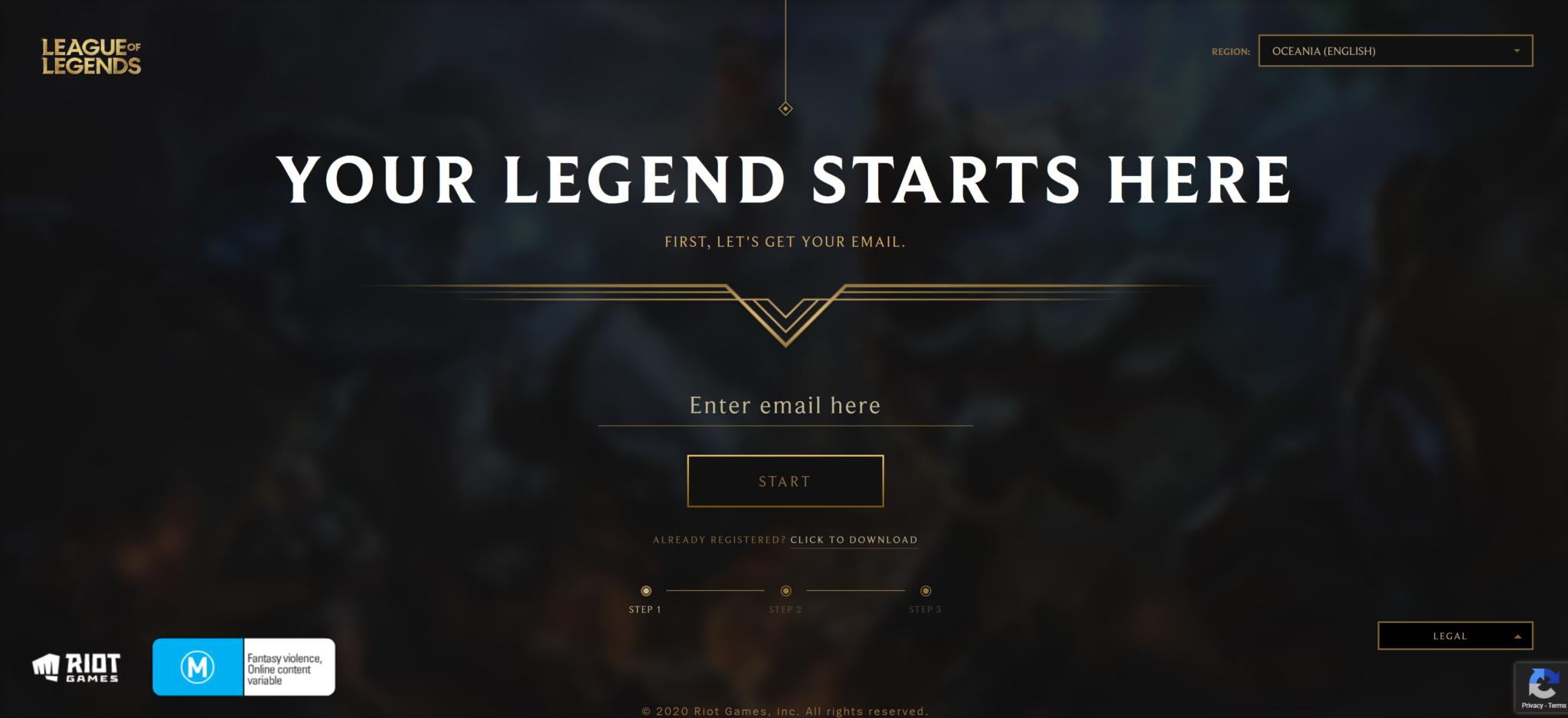 Site League of Legends Riot Games
