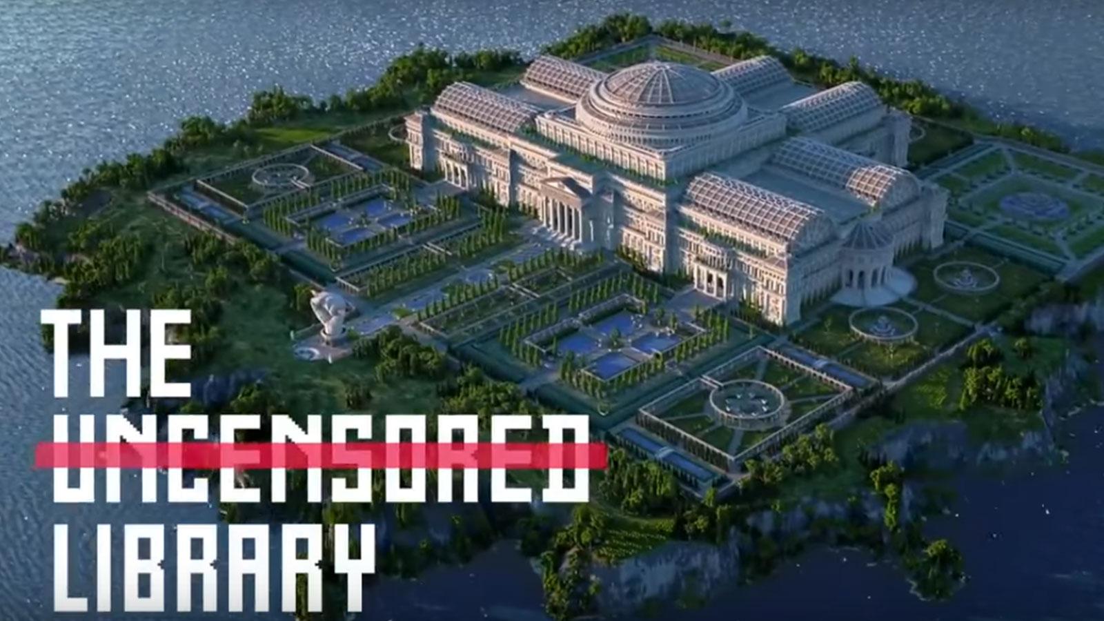 Une bibliothèque pas comme les autres à fait son apparition sur Mincraft