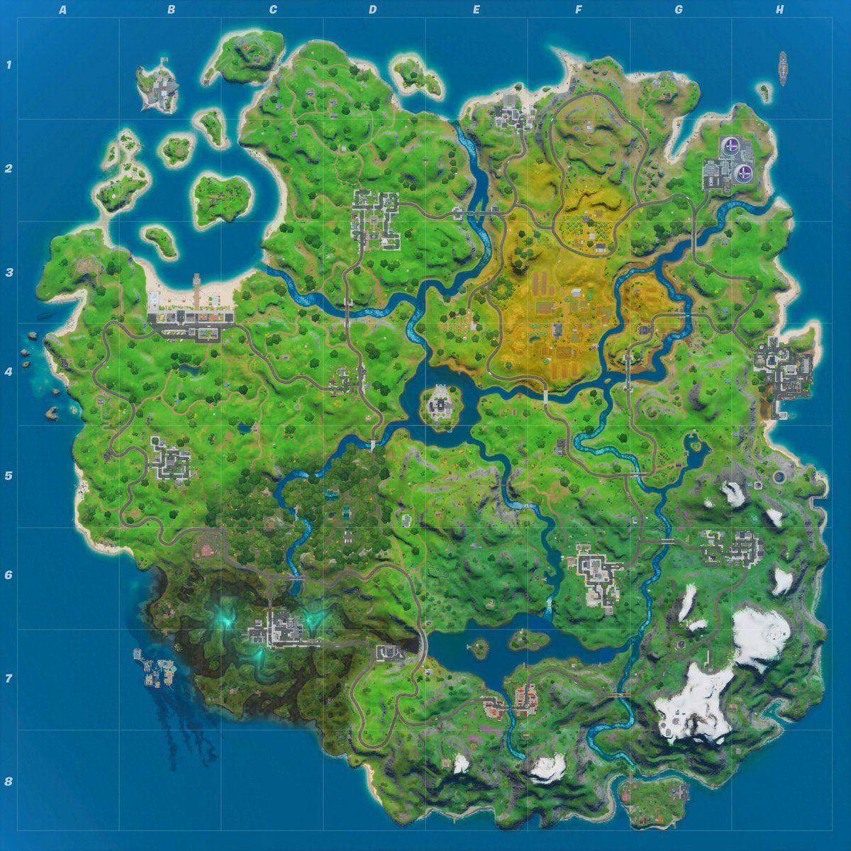 Carte complète Fortnite patch 12.20 Epic Games
