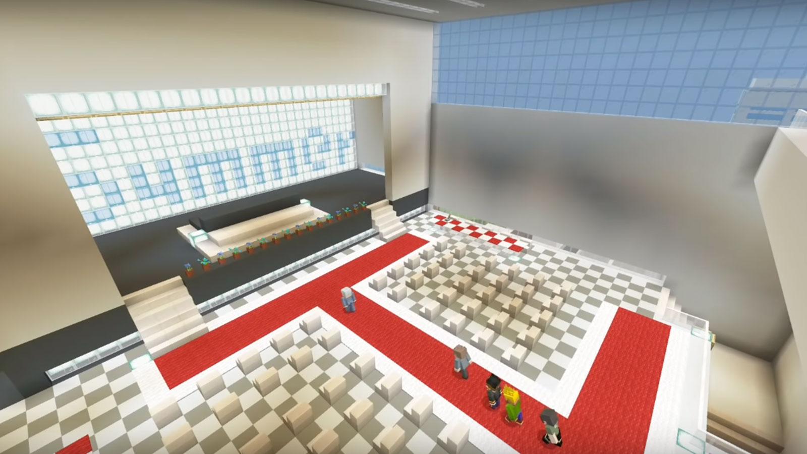 Un élève a mis en place une remise de diplôme sur Minecraft