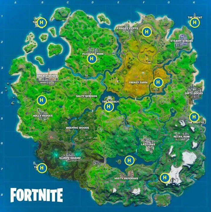 carte hélicoptères Fortnite Epic Games