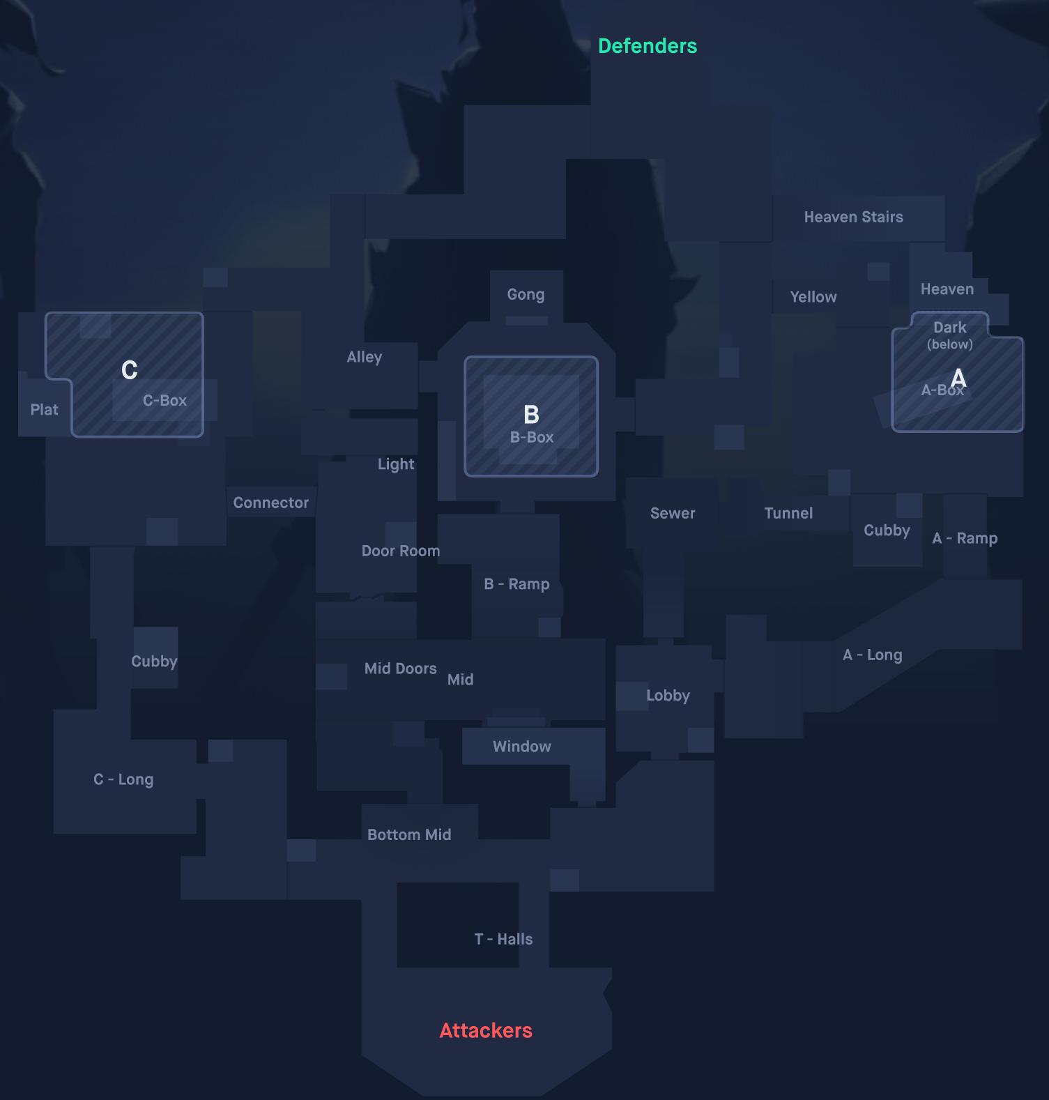 carte interactive Valorant Blitz.gg
