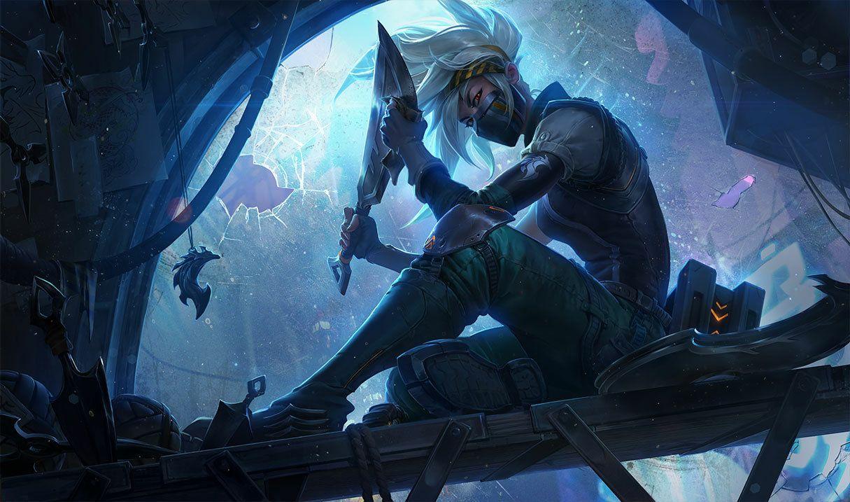 Splash art Akali League of Legends Riot Games