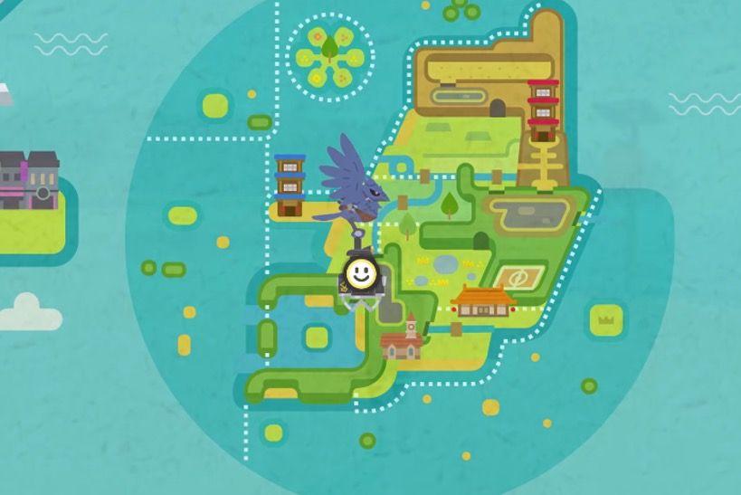 Pokémon carte île solitaire de l'armure DLC Pokémon Game Freak