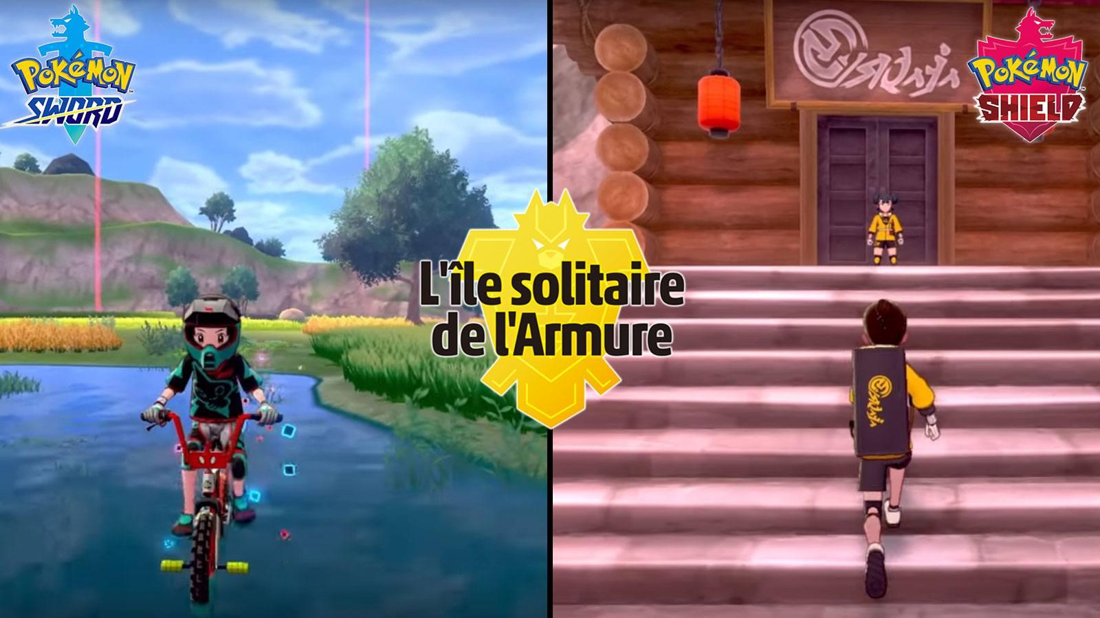 lieux carte ile solitaire de l'armure pokémon épée bouclier game freak