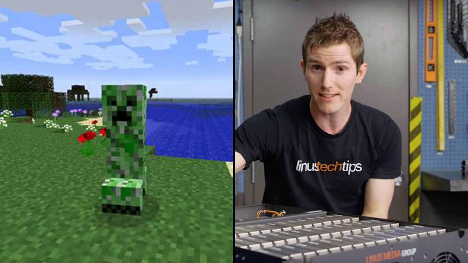 Creeper Minecraft | YouTube LinusTechTips