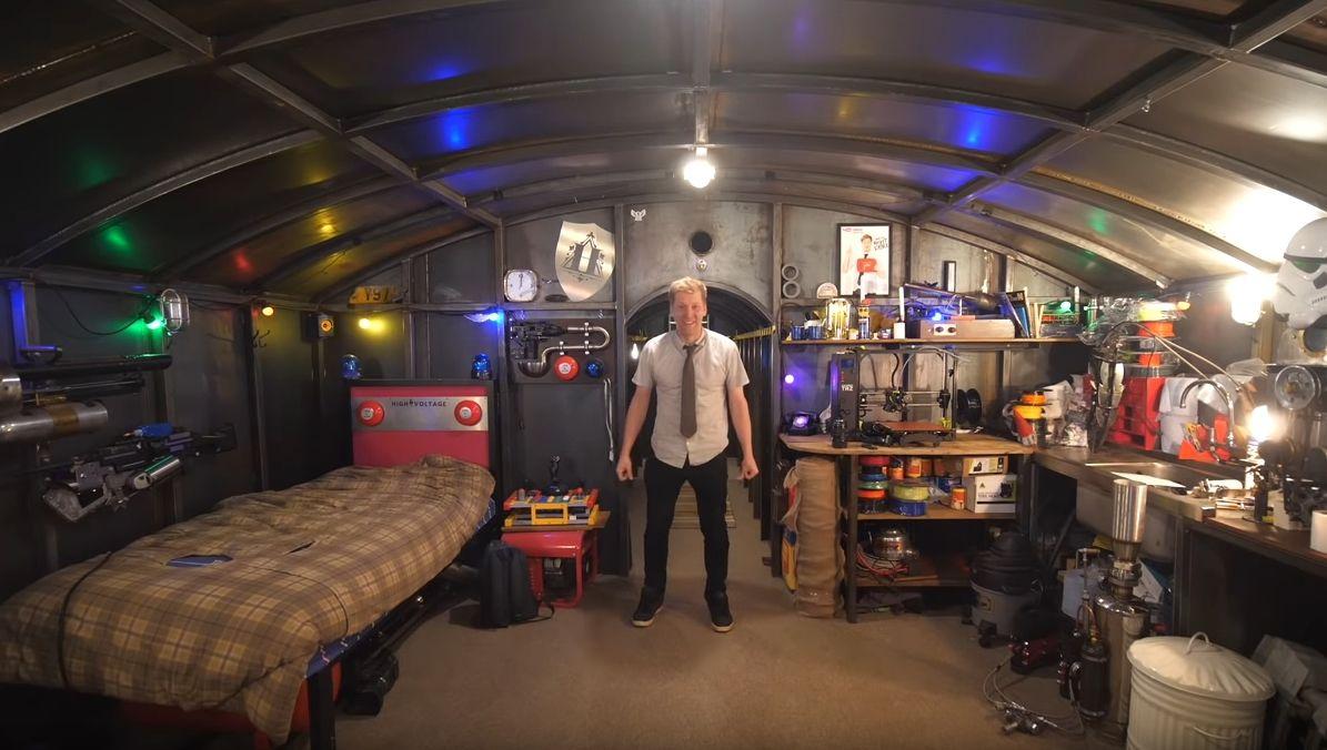 Colin Furze bunker youtube