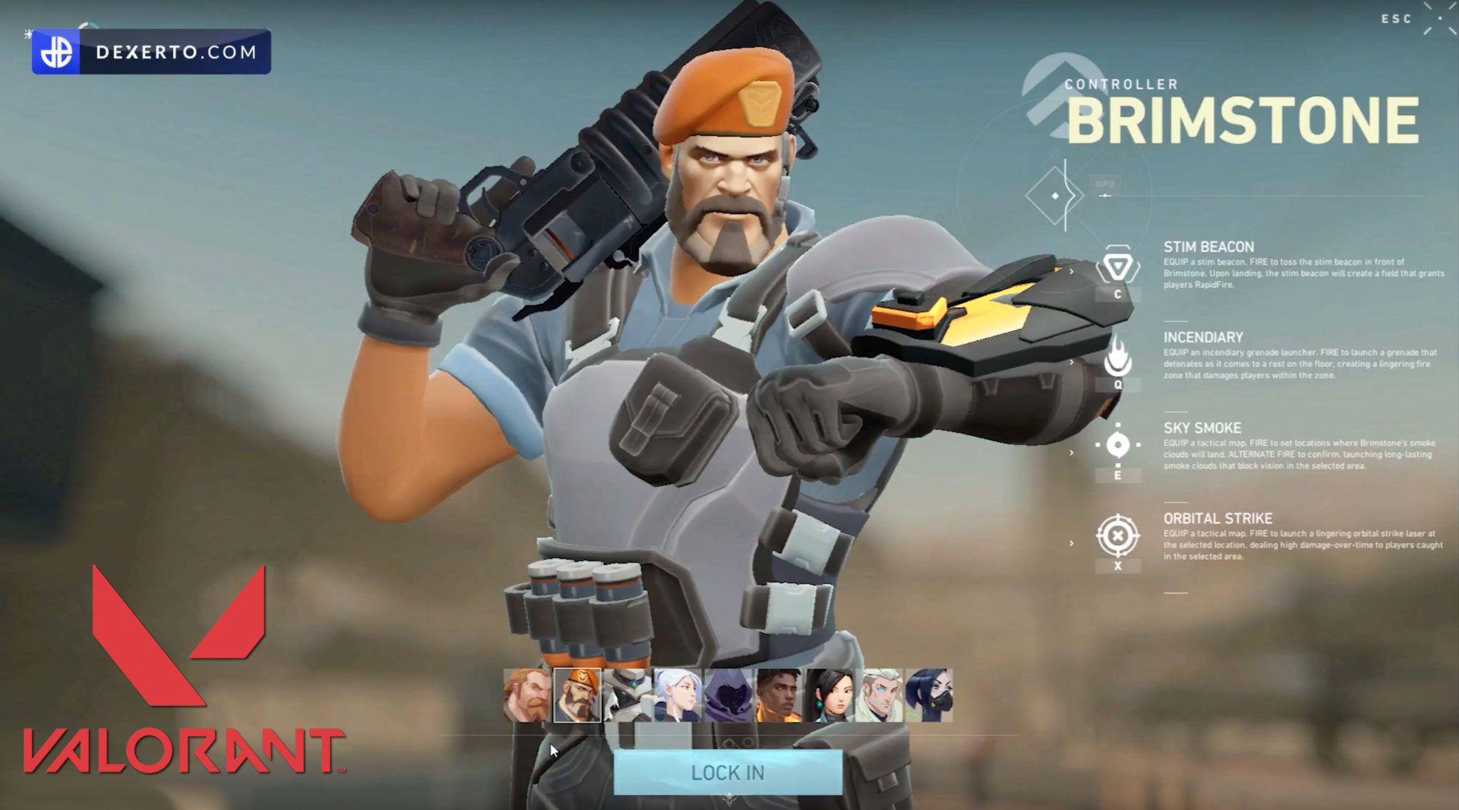 Valorant Brimstone Riot Games Dexerto