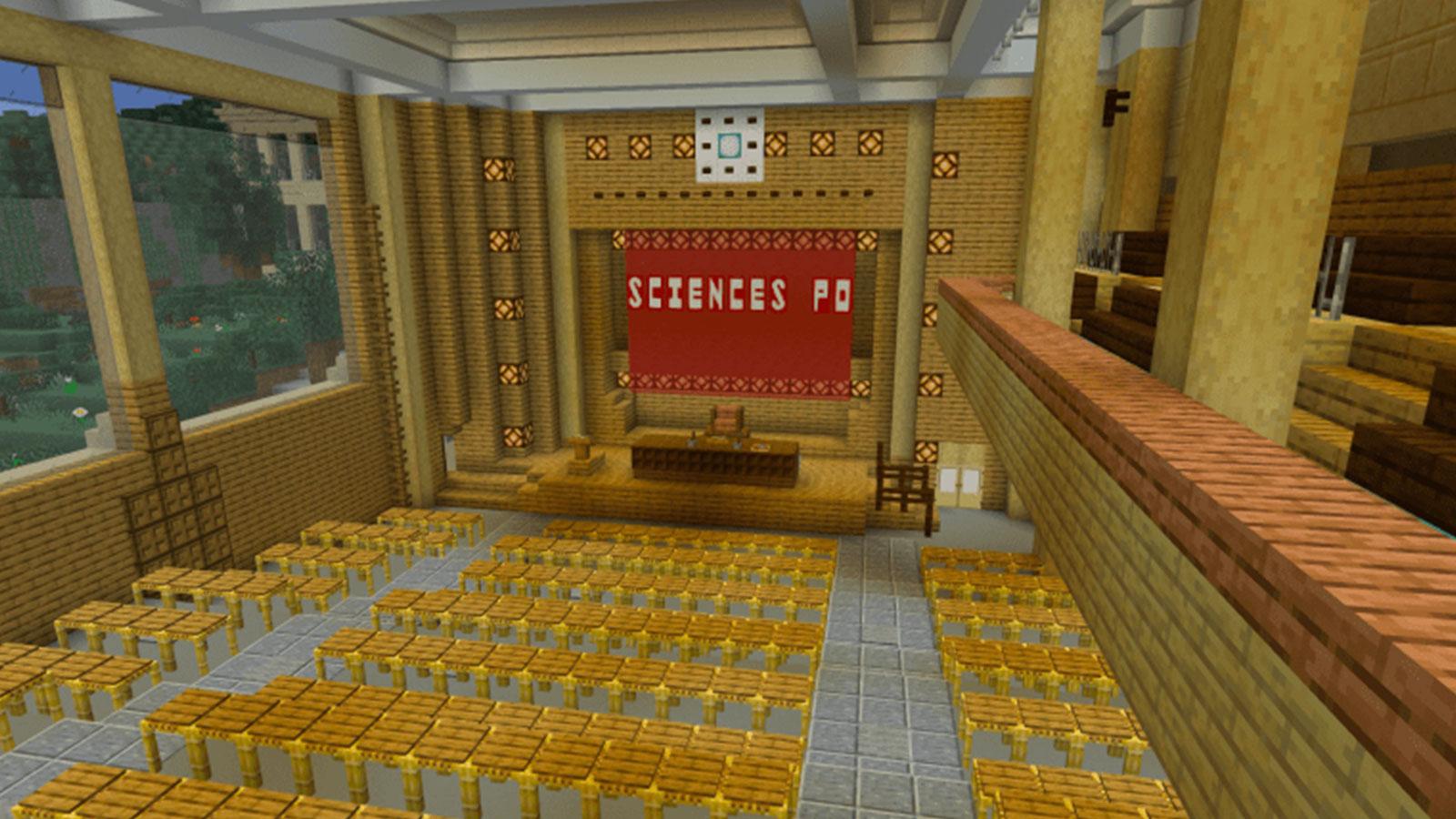 Des étudiants de Science Po ont recrée leur école sur Minecraft