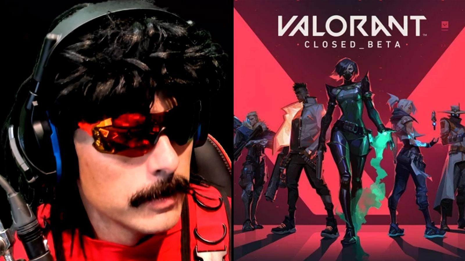 Twitch Dr Disrespect | Valorant Riot Games bêta fermée