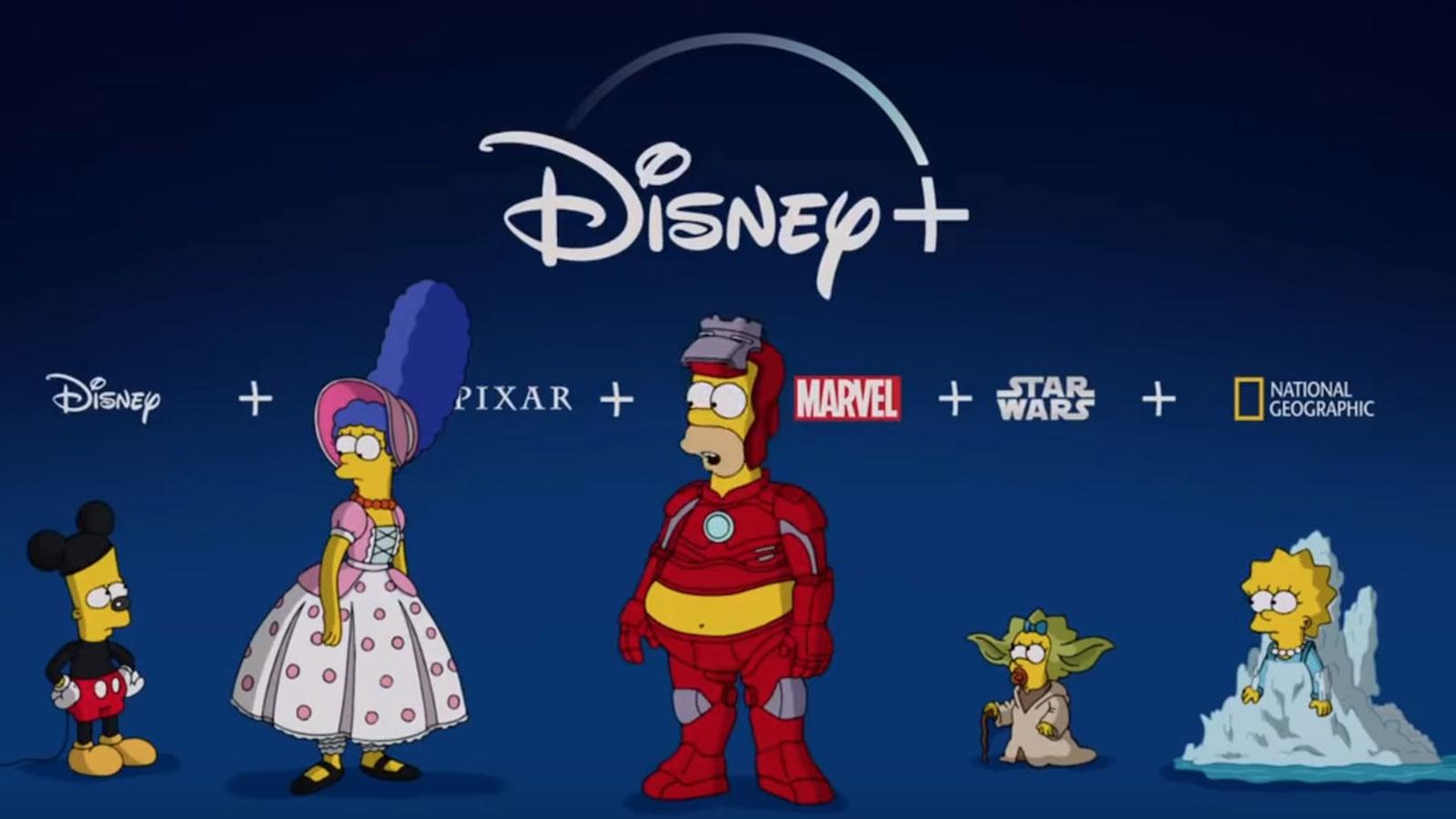 Pour le lancement de Disney+ plsuieurs influenceurs dont Cyprien ont été dessinés façon Simpsons