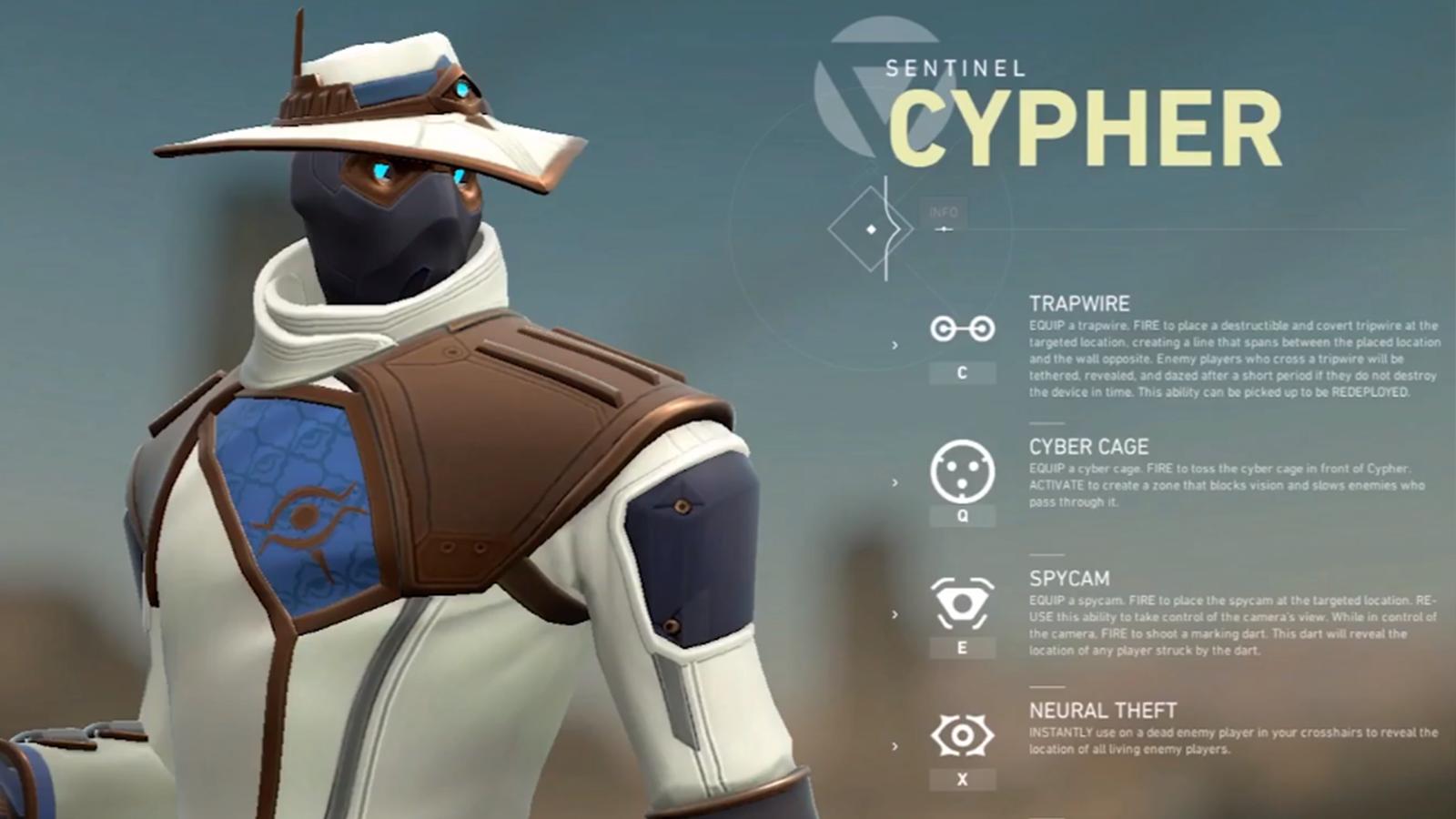 Valorant Riot Games Cypher compétences