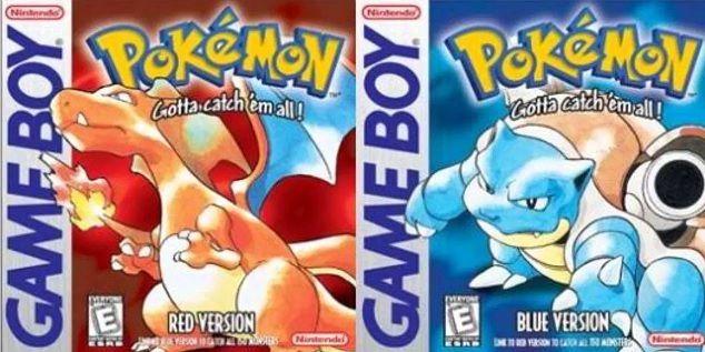 Pokémon Rouge Pokémon Bleu couverture
