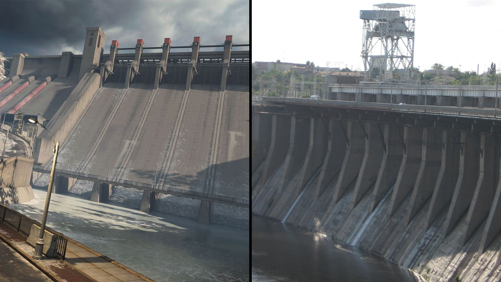 Barrage Gora Warzone   centrale hydroélectrique du Dniepr Ukraine