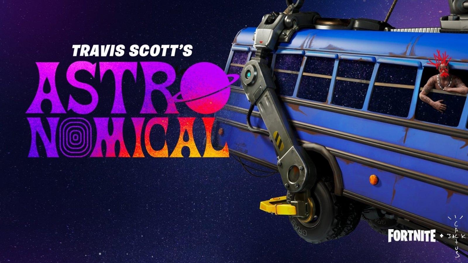 Evenement Astronomical de Travis Scott sur Fortnite