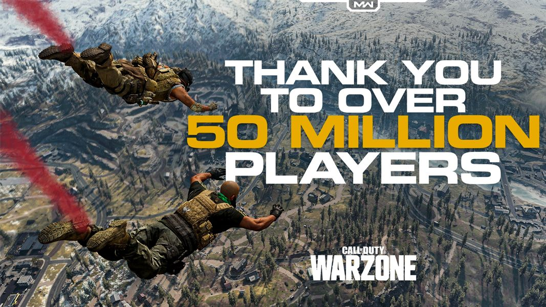 Infintiy Ward Warzone 50 millions joueurs