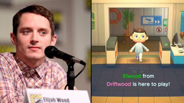 Elijah Wood a rendu une visite surprise à une joueuse d'Animal Crossing New Horizons