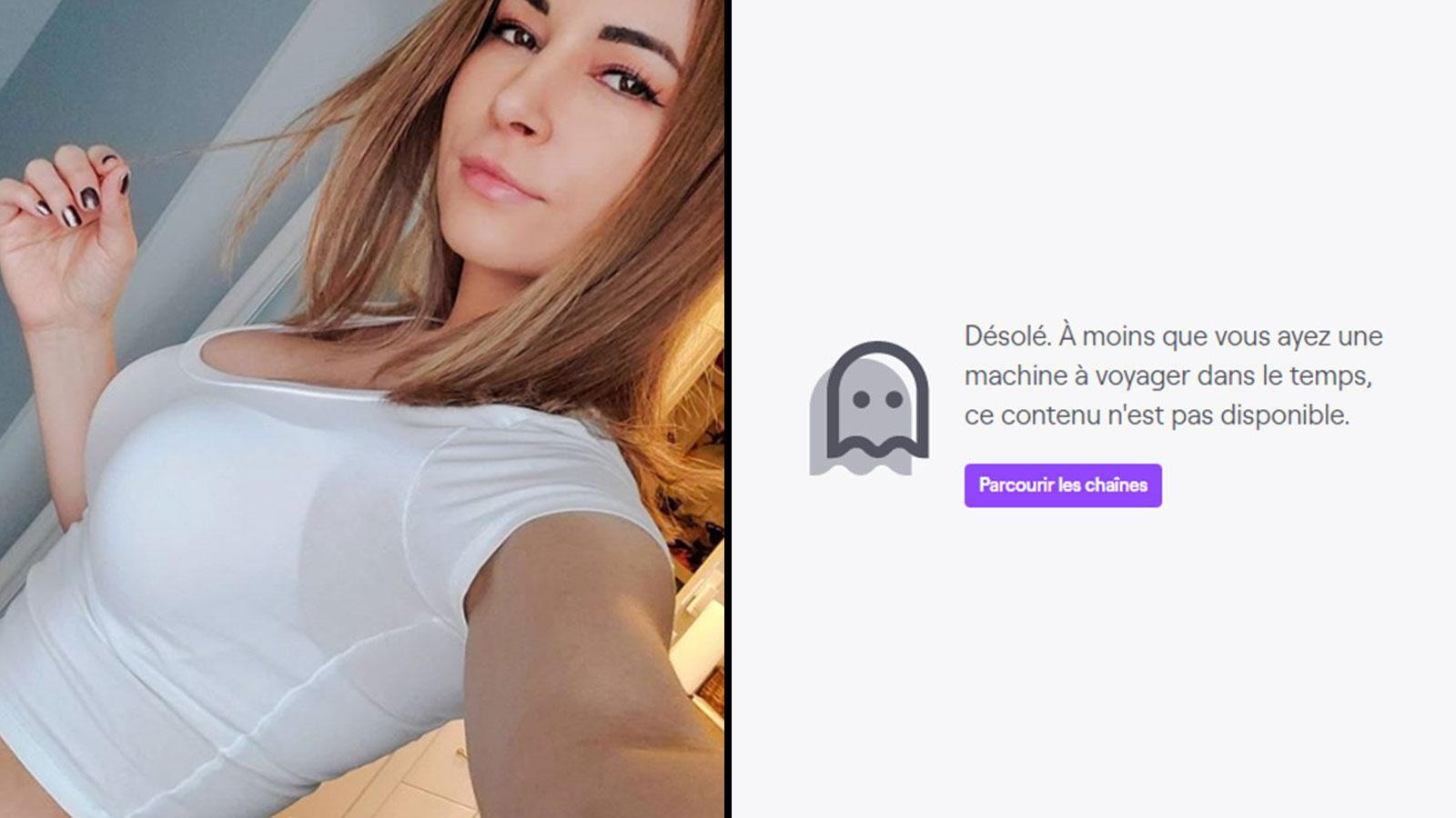 Alinity a réclamé un prolongement de son ban sur Twitch