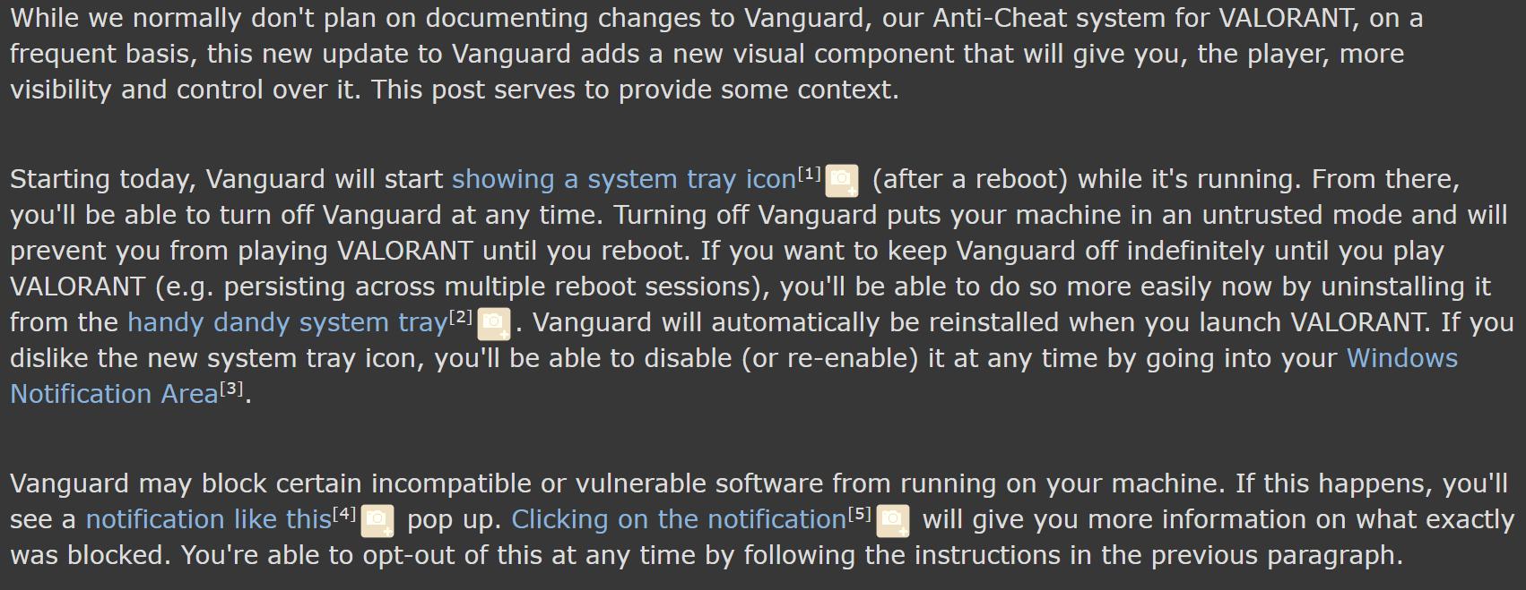 Reddit : Valorant about vanguard