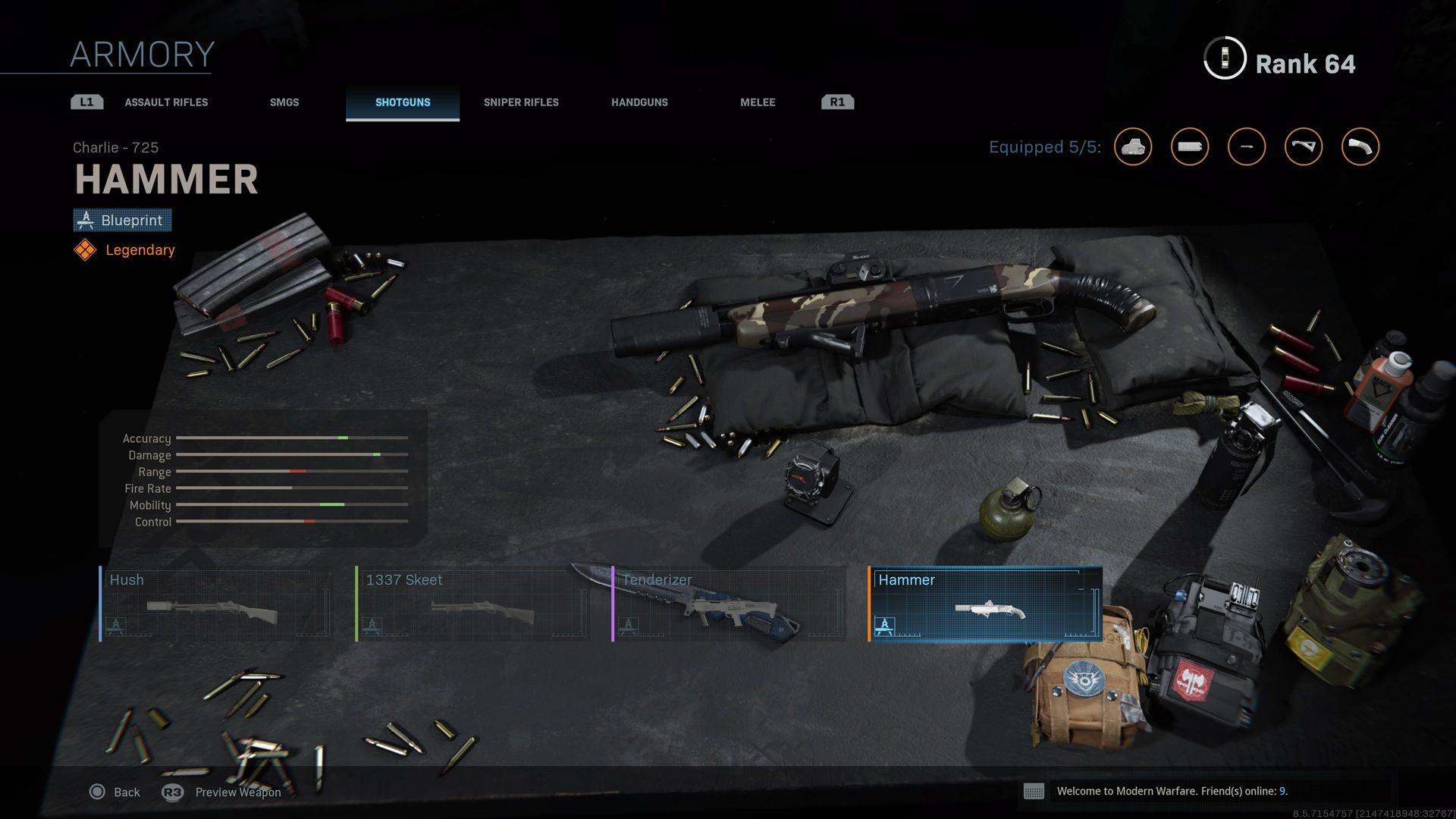Call of Duty Modern Warfare Infinity Ward blueprint