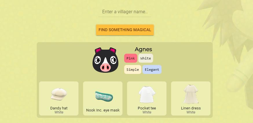 Cet outil vous permet de découvrir le cadeau idéal pour vos villageois