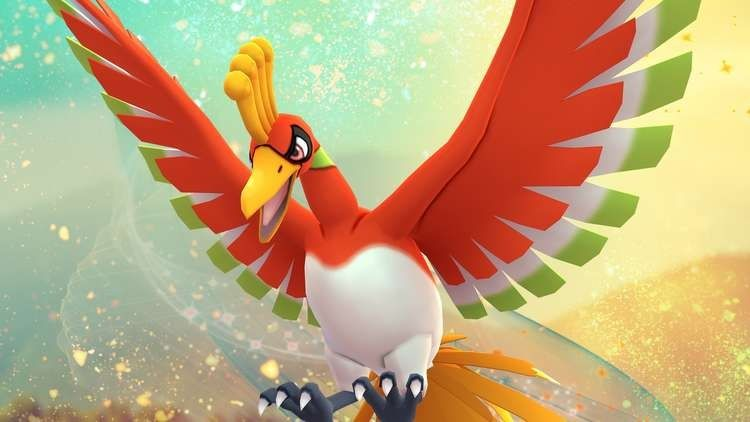 Pokémon Ho-Oh Pokémon Go défi souvenir
