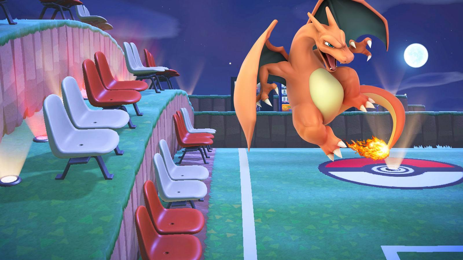 capture zapsuit animal crossing dracaufeu Pokémon Company