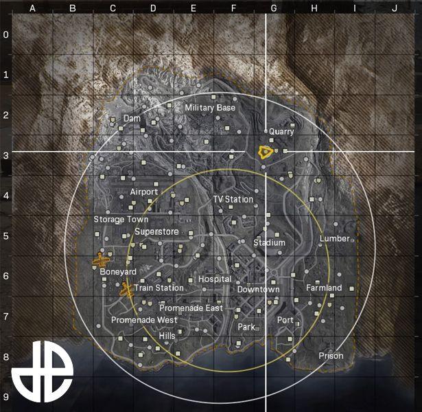 Carte Warzone Infinity Ward